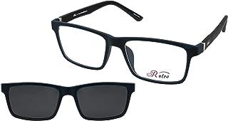 نظارة طبية باطار كامل بلون ازرق مطفي C:5 4017، (سو) (مشبك)، من رترو