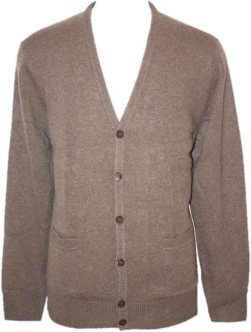 Shephe 4 Ply Men's Cardigan Button Closure Cashmere Sweater
