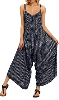 Fashion Women Strappy V Neck Bandage Loose Playsuit Party Clubwear Jumpsuit