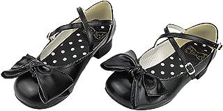 Japanese Sweet Lolita Block Low Heel Round Toe PU Leahter Mary Jane Shoes