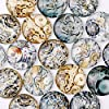 Rosebeading 20pcs 20 mm Flat Back Steampunk Watch Gear Round Glass Cabochon,Dome 1