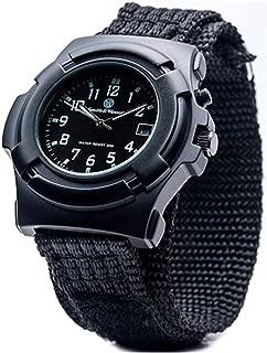 Men's SWW-11B GLOW Lawman Black Nylon Strap Watch