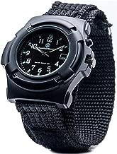 Smith & Wesson Men's SWW-11B GLOW Lawman Black Nylon Strap Watch
