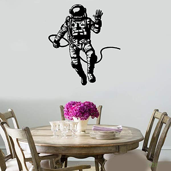 DIY Removable Vinyl Decal Mural Letter Wall Sticker Astronaut Spaceman For Boys Kids Room