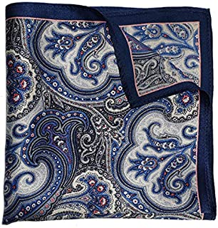 The Blue Fushion Silk Pocket Square