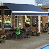 12 ft. Maui Manual Retractable Awning (120 in. Projection) Dusty Blue