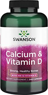 Swanson Calcium Citrate Calcium Carbonate Complex with Vitamin D Bone Muscle Nerve Health Blood Pressure Immune System Sup...