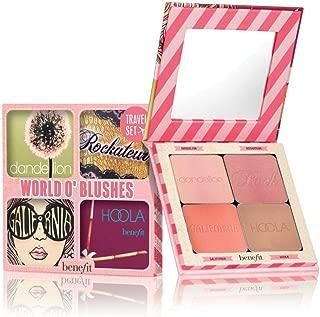 Benefit World O' Blush 4-Piece Set (Dandelion baby pink blush, Rockateur rose gold blush, Galifornia golden pink blush, Hoola Matte Bronzer)