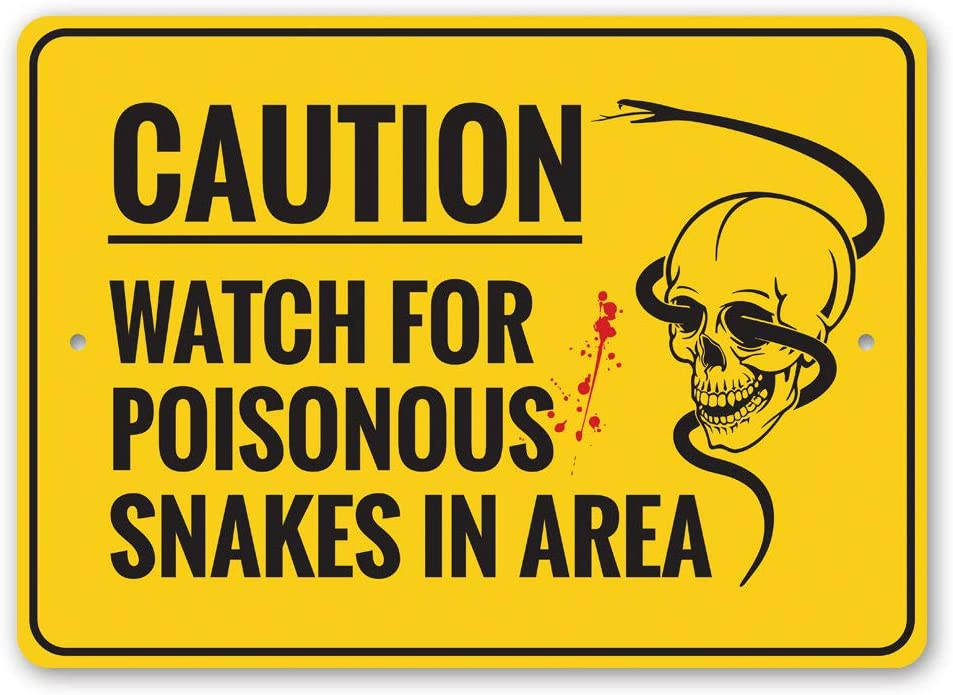 Caution: Max 61% OFF Watch for Poisonous Snakes and in Area Skulls H Great interest