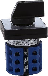 ACAMPTAR interruttore di pulsante a pulsante LED 12V 19 mm interruttore autobloccante nero