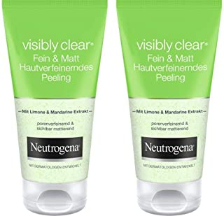 Neutrogena, Facial Scrub, Visibly Clear, Pore & Shine, 150ml (pack of 2)