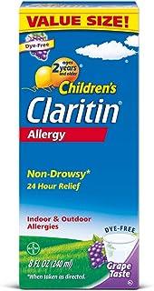 آلرژی کودکان Claritin شربت غیر خواب آور ، انگور ، 8 اونس