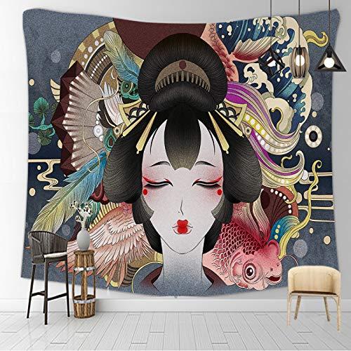 CNYG Manta psicodélico Kanagawa con impresión de ondas de suspensión para colgar en la pared, manta bohemia para colgar en la pared, decoración del hogar, dormitorio, tapiz de 150 x 100 cm