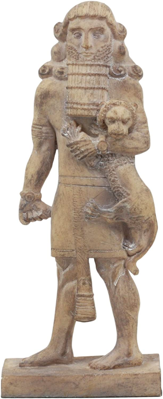 Ebros Louvre Museum Ancient Assyrian Warrior Gilgamesh Statue 8.75  Tall Akkadian Poem Demigod Hero Decorative Collectible