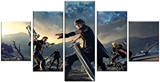 5 Piece HD Picture Final Fantasy XV Episode Gladiolus Video Game Poster HD Wall Pictures for Living Room
