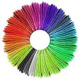 Justech 5m Filamento de Impresora 3D con 25 Colores Diferentes 1.75mm Filamento PLA de Pluma 3D de 125m en Total Compatible con la Mayoría de 1.75mm 3D Impresora y Pluma