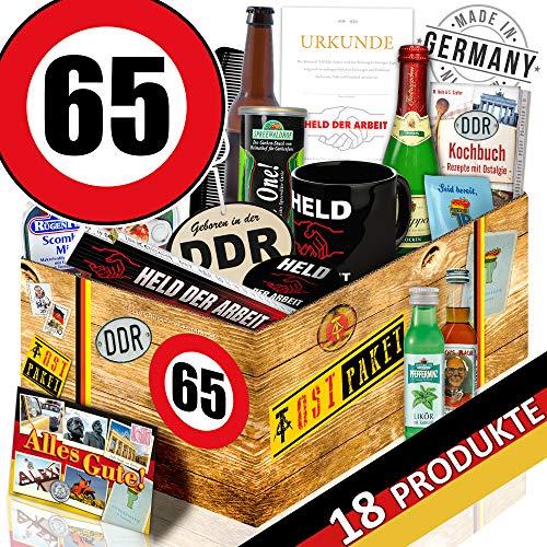 Männer Paket DDR / Geburtstag 65 / Geschenk Korb für Opa
