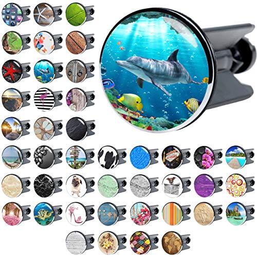 Waschbeckenstöpsel, viele schöne Waschbeckenstöpsel zur Auswahl, hochwertige Qualität ✶✶✶✶✶ (Delphin Korallen)