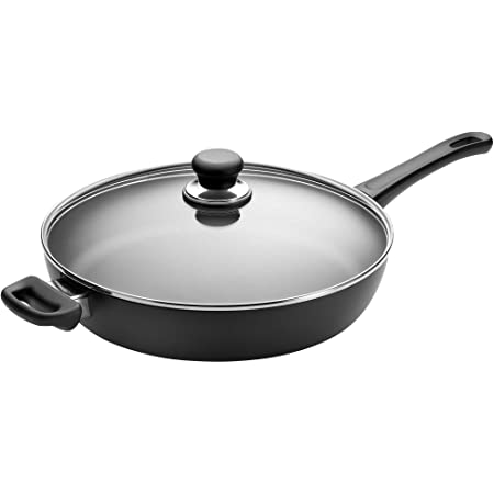 SCANPAN USA Inc Classic Saute Pan, 4.25 quarts, Black