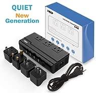 Voltage Converter Travel Adapter, THZY International Step Down 220V to 110V Converter with 4-Port...