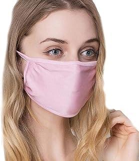 Women Silk Reusable Mask,Filter PM2.5 Air Filtration Mask
