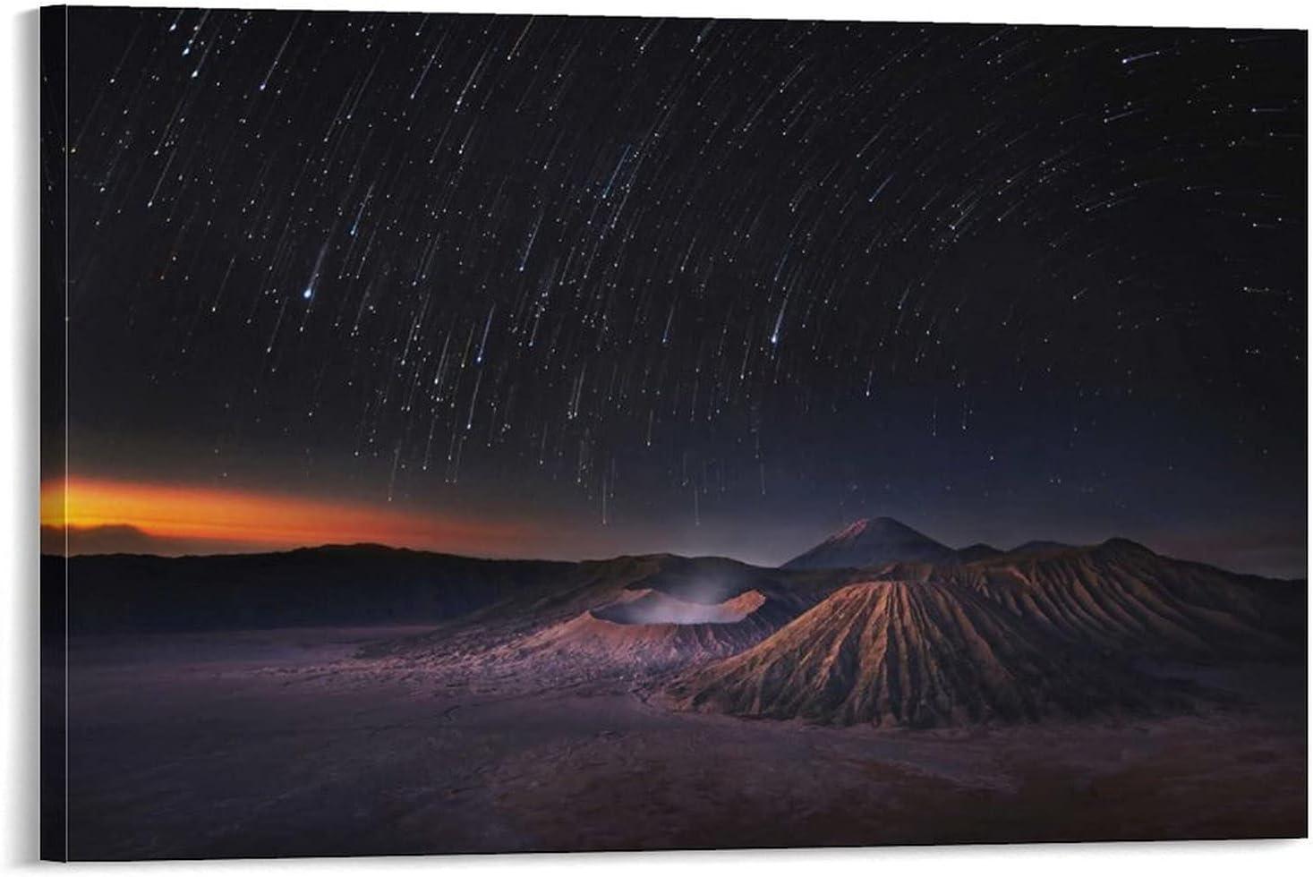 Max 44% OFF YuFeng_Art_Inn Long Exposure Stars Nature Moun Landscape Ranking TOP18 Volcano