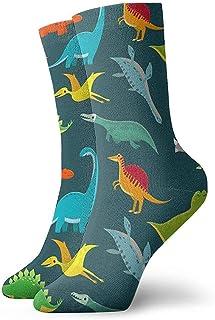 artyly, Novedad, divertido, loco, calcetín de tripulación, lindos niños, dinosaurios, estampado, deporte, medias deportivas, 30 cm, calcetín para hombres y mujeres