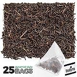 Tealyra - Mate Java Expresso - 25 Bags - Roasted Mate - Black Loose Leaf Tea - Chocolate - Cinnamon - Energizing Healthy Blend - 25 Sachets