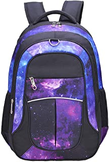 Galaxy Backpack for Girls, Boys, Kids, Teens by Fenrici, 46 cm Durable Book Bags for Elementary, Middle, Junior High School Students, Supporting a Great Cause (Faith, L)