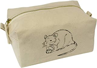 'Rat Eating Cheese' Canvas Wash Bag / Makeup Case (CS00018375)