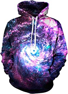 RONSHIN Halloween Clothes-Halloween 3D Printed Starry Sky Hoodie Men/Women Fashionable Hooded Pullover as shown XXL