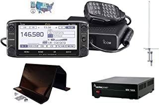 Bundle - 5 Items - Includes Icom ID-5100A Deluxe VHF/UHF D-Star Transceiver, Nifty! ID-5100 Desk Stand, 23A Desktop PSU, Dual Band Base Antenna and Ham Guides TM Quick Reference Card