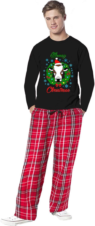 Awkward Styles Family Christmas Pajamas for Men Xmas Cow Mooey Sleepwear Mens Pajama Sets