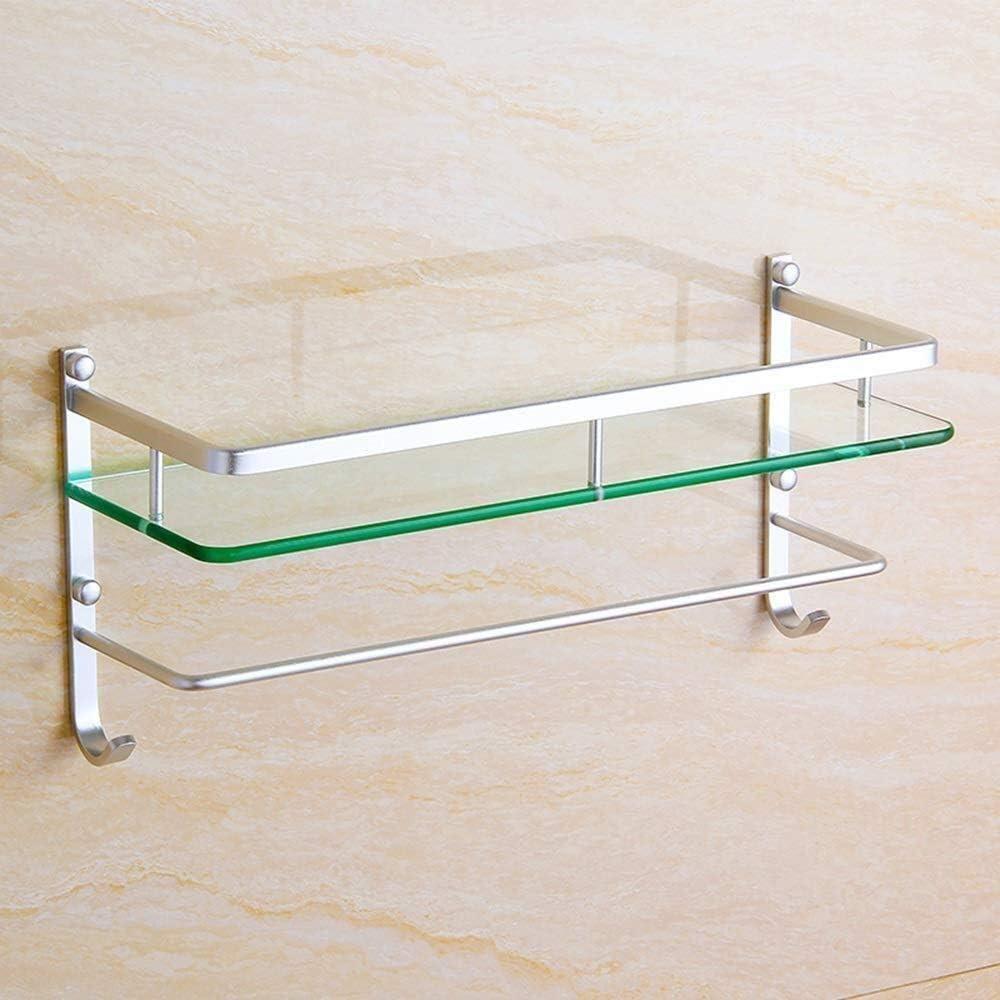 List price Shower Storage Bathroom Store Shelf wit Frame Tempered Glass