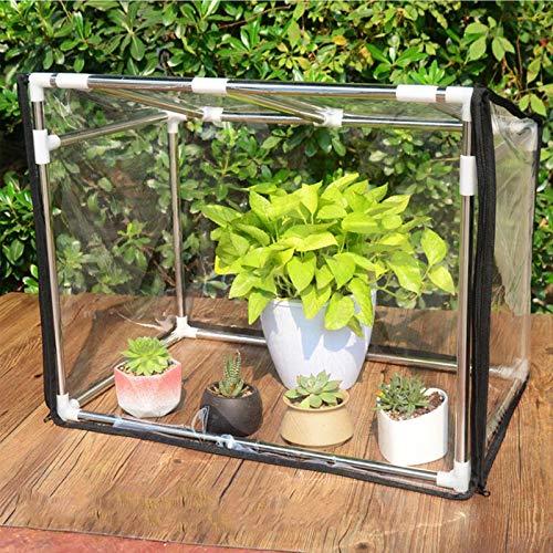 60*40*40cm Mini Invernadero Portatil cubierta portátil para jardín verde para exteriores e interiores Invernadero de película de vidrio suave transparente de refugio para plantas de jardín, Po
