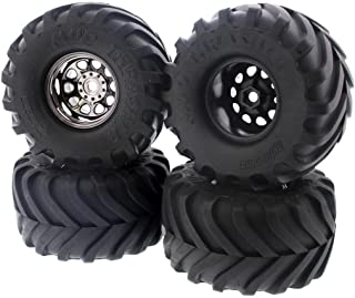 HPI 1/12 Wheely King 4x4 MUD THRASHER TIRES & CLASSIC KING 12mm HEX WHEELS