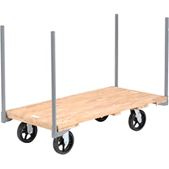 Amazon Com Stake Handle Platform Truck W Hardwood Deck 54 X 27 8 Rubber Casters 2400 Lb Capacity Office Products