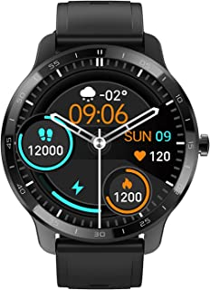 FirYawee Smart Watch for Android Phones Compatible with iPhone Samsung, Fitness Watch with Heart Rate Monitor and Sleep Monitor, Step/Distance/Calorie Counter, 2021 Version smartwatch for Men Women