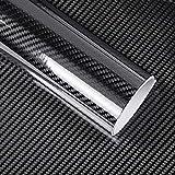 2pcs1001520mm Car Styling 5D Carbon Fiber Vinyl Stickers for BMW E46 E39 E60 E90 E36 F30 F10 X5 E53 E34 E30 Lada Seat Leon Cars (Color Name : 10x152 cm)