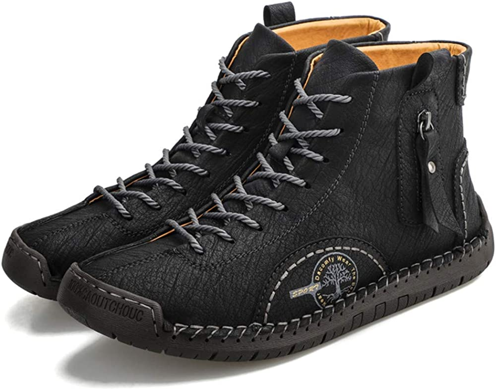 Under blast sales Govicta Premium Mens Ankle Boots Men's Lace-up Max 60% OFF Shoes Han Casual