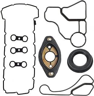 Valve Cover Gasket Camshaft Adjuster Eccentric Shaft Actuator Seal Oil Filter Adapter Housing Oil Cooler Gaskets Replacement For BMW E60 E70 E82 E83 E85 E86 E88 E89 E90 E91 E92 E93 Engine Seal Kit