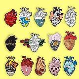 yuge Heart Organ Series Broche Médico Anatómico Corazón Esmalte Pin Broches Corazón Neurología...