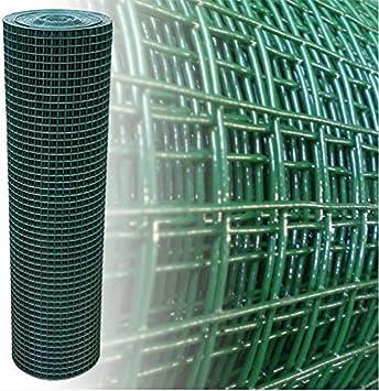 Volierendraht Drahtgitter 4-Eck Gartenzaun grün 200cm 15m 19x19mm 1,45mm