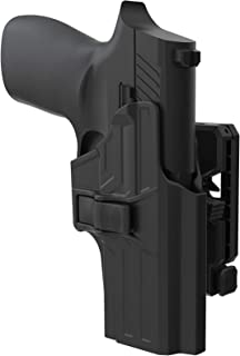 TEGE Sig P320 Compact Holster, 360° Adjustable Belt Holster Fit Sig Sauer P320 Compact/ P320 RX Compact/X Carry, Tactical Outside Waistband Open Carry Holster with Rapid Release, RH, Black