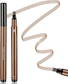 Aaiffey Eyebrow Tattoo Pen Waterproof Microblading Eyebrow Pencil with Micro-Fork Tips Applicator Creat Daily Natural Brows Makeup Long Lasting