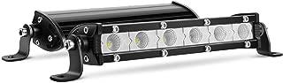 "Nilight 40008F-B 2PCS 7""18W Ultra-Slim Single Row LED Flood Bar Fog Dricing Work Light for Offroad 4x4 Jeeps Trucks ATV UTV SUV Tacoma Subaru, 2 Years Warranty"