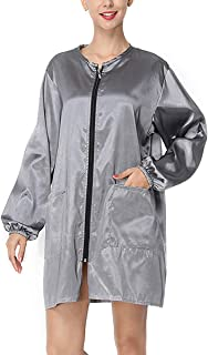 Lurrose Hair Stylist Grooming Smocks,Professional Salon Cape Waterproof Barber Styling Cape Unisex Hair Cutting Cape with Zipper,XL