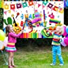 Mexican Fiesta Theme Birthday Photography Backdrop Mexican Theme Party Photo Booth Background Colorful Luau Theme Cinco De Mayo Party Backdrop Banner Fiesta Party Decoration Supplies, 70.9 x 45.3 Inch #1