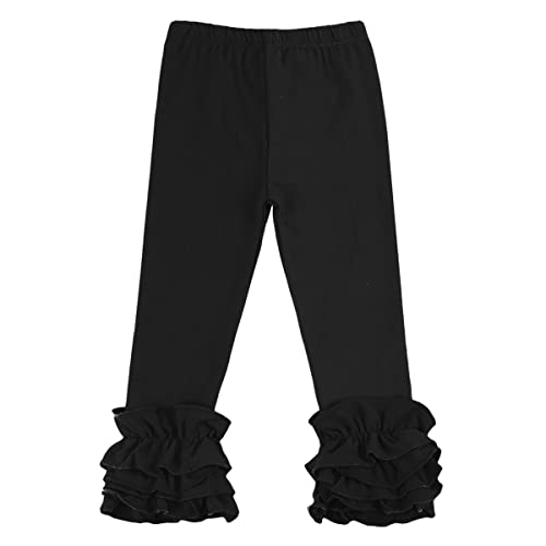 48f1f6b715399 Little Girl's Double Icing Ruffle Leggings Pants Cotton Tights Active  Trousers