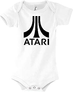 Youth Designz Baby Jungen & Mädchen Kurzarm Body Strampler Modell Atari, Größe 3-24 Monate in vielen Farben